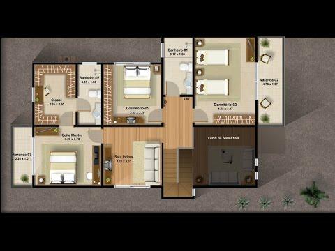 Planos de casas de dos pisos con tres dormitorios youtube for Planos arquitectonicos de casas