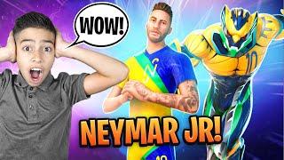 New *NEYMAR JR* Skin in FORTNITE!!!   Royalty Gaming