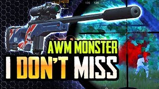 I DON'T MISS WITH MY AWM  😈 PUBG Mobile