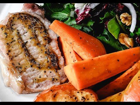 Sheet Pan Pork Chops With Sweet Potatoes & Apples Recipe - Add A Pinch