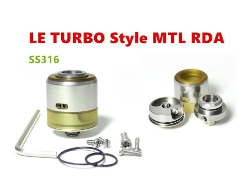 SS316 Le Turbo 22mm BF Style MTL RDA Atomizer By Wejoytech