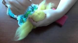 Как сделать прическу из шерсти для валяния. Виктория Лямина