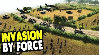 ALL NEW MISSION: Giant WWII BATTLE Post NORMANDY INVASIONS | Men of War: Assault Squad 2 Gameplay