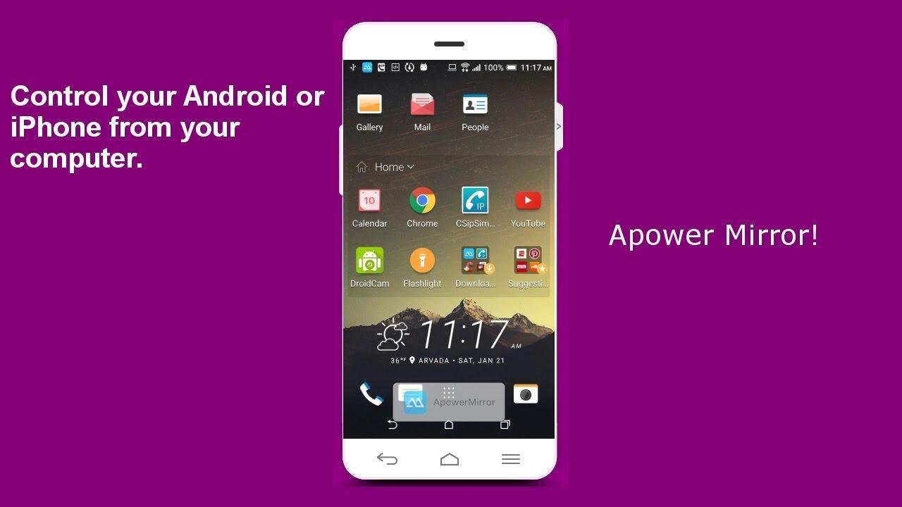 Apowermirror pc to android windows 10