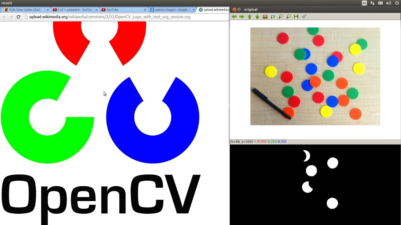 Opencv Programming The Raspberry Pitutorial 18 Identify Pixels With