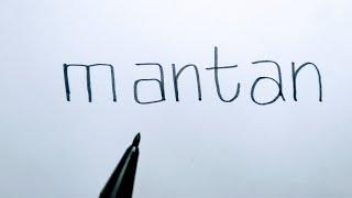 Spesial buat mantan...Menggambar POCONG dari kata MANTAN