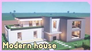 마인크래프트 건축 강좌ㅣ마크 도시 모던하우스 l Minecraft Modern House Tutorial l