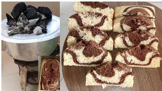 HOW TO BAKE SOFT MARBLE CAKE ON A CHARCOAL JIKONO OVEN MARBLE CAKEKUTUMIA JIKO LA MAKAA KUOKA KEKI