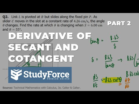 📚 How to find the derivative of secant and cotangent functions (Part 2)