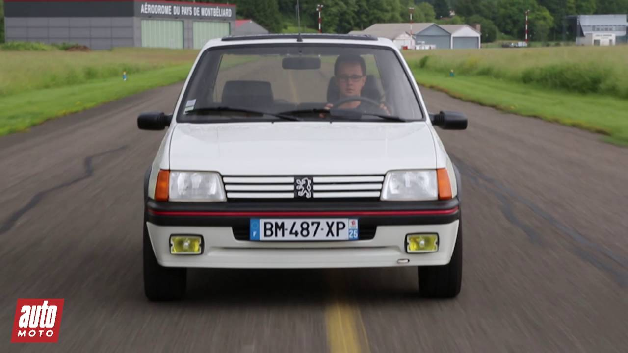 peugeot 205 gti essai video num ro sacr prix avis fiche technique youtube. Black Bedroom Furniture Sets. Home Design Ideas