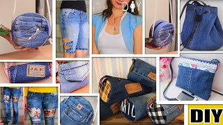 11 FANTASTIC DIY OLD JEANS TRANSFORM IDEAS // Don't Trash Old Jeans // RECYCLING OLD CLOTHES