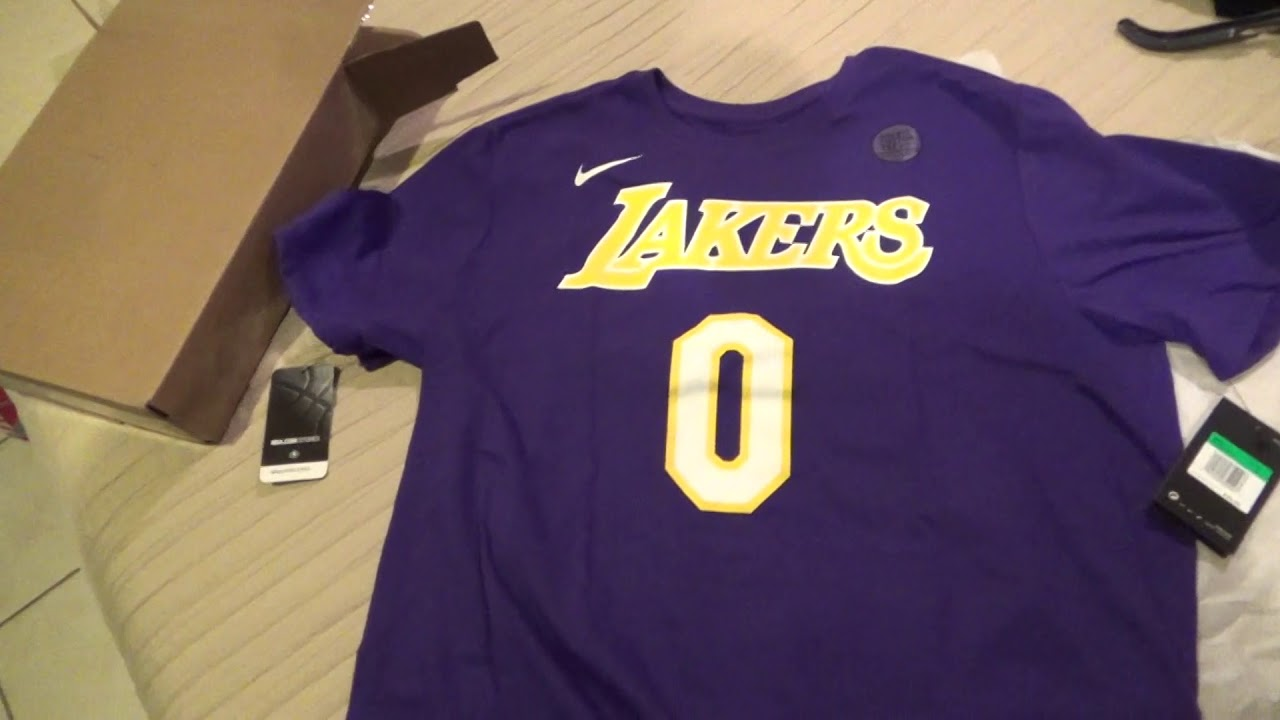 09c0f4e38 Los Angeles Lakers Kyle Kuzma Player Shirt Unboxing Review - YouTube