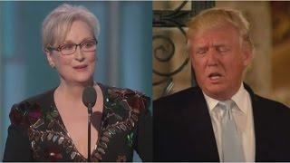 "Donald Trump calls Meryl Streep ""Hillary Flunky"" in response to her speech"