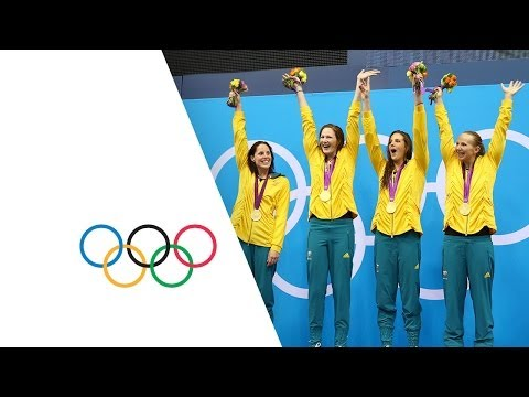 Australia Set New Olympic 4 X 100m Freestyle Record - London 2012 Olympics