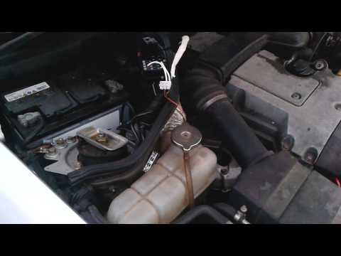 Mercedes W124 Fehlerspeicher auslesen (M104 & M111) mit 12V PC LED Licht, Blinkcode