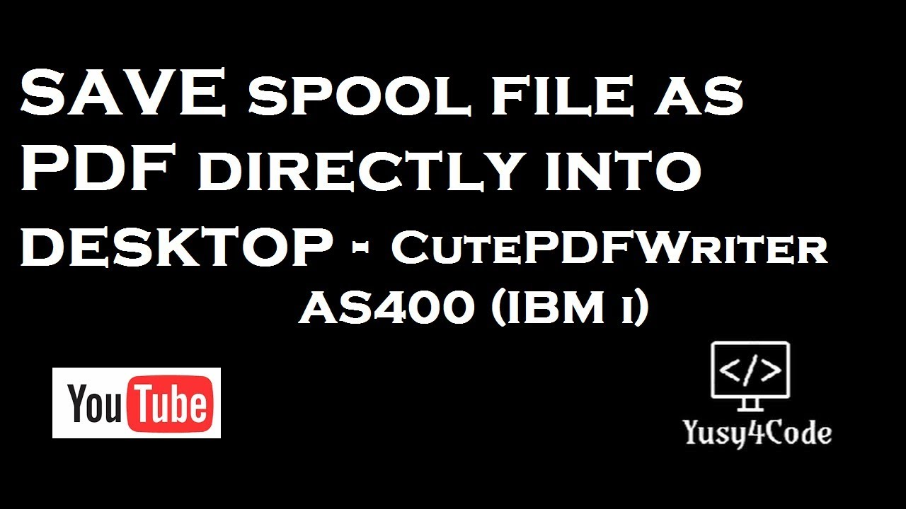 How to convert AS400 Spool file to PDF using CutePDFWriter