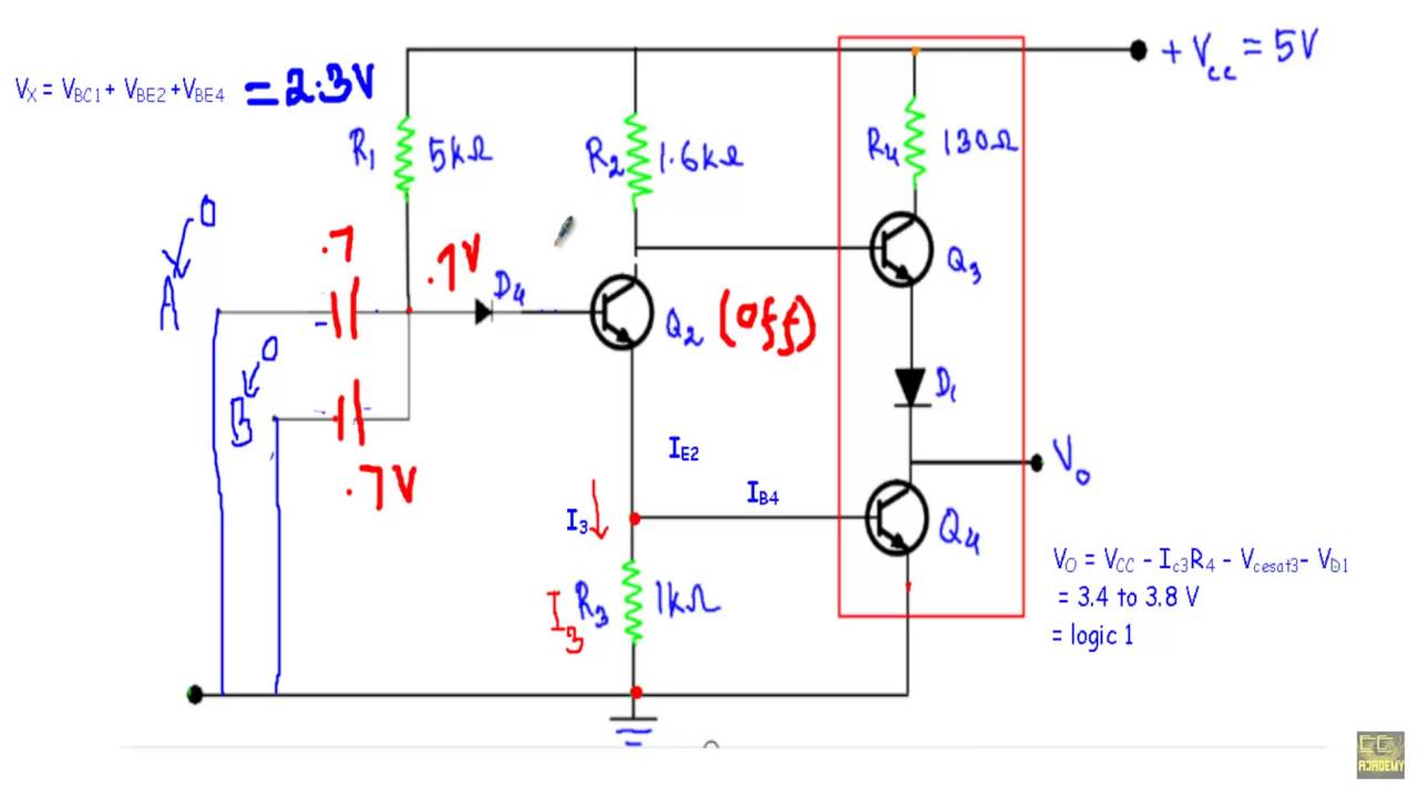 Ttl Nand Gate With Totem Pole Output Youtube Diagram E Get Free Image About Wiring On Schematic