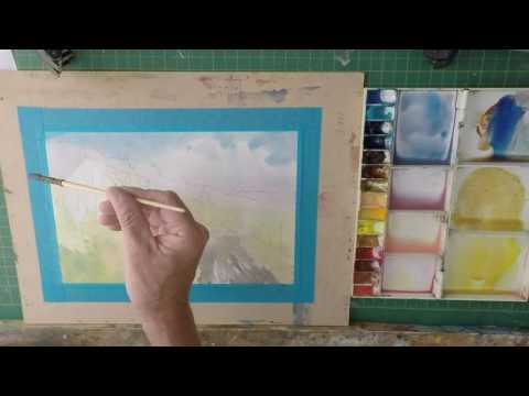 Simple Watercolour Barn Tutorial
