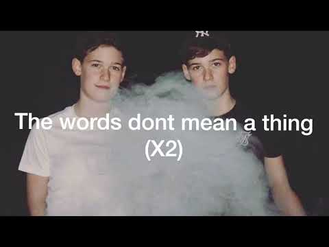 Max and Harvey - Words (Lyrics)