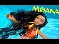 MOANA New Disney Princess Underwater Swimming Pool Bath Colors + Maui Mermaid Dolls DisneyCarToys