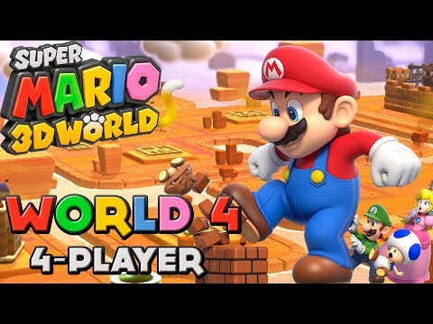 super mario 3d world 4 players crown world