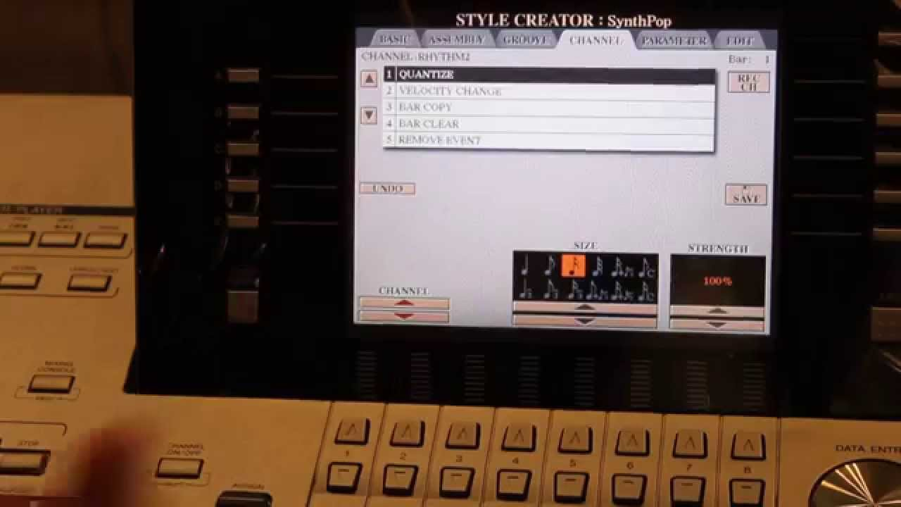 CREATING STYLES - TUTORIAL FOR ALL YAMAHA ARRANGER KEYBOARDS