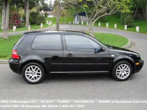 2002 Volkswagen GTI***BLACK***TURBO***AUTOMATIC***SHARP, $79 - YouTube