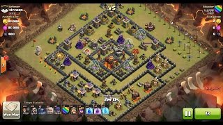 Clash of Clans TH10 vs TH10 Golem, Wizard, Witch & Pekka (GoWiWiPe) Clan War 3 Star Attack
