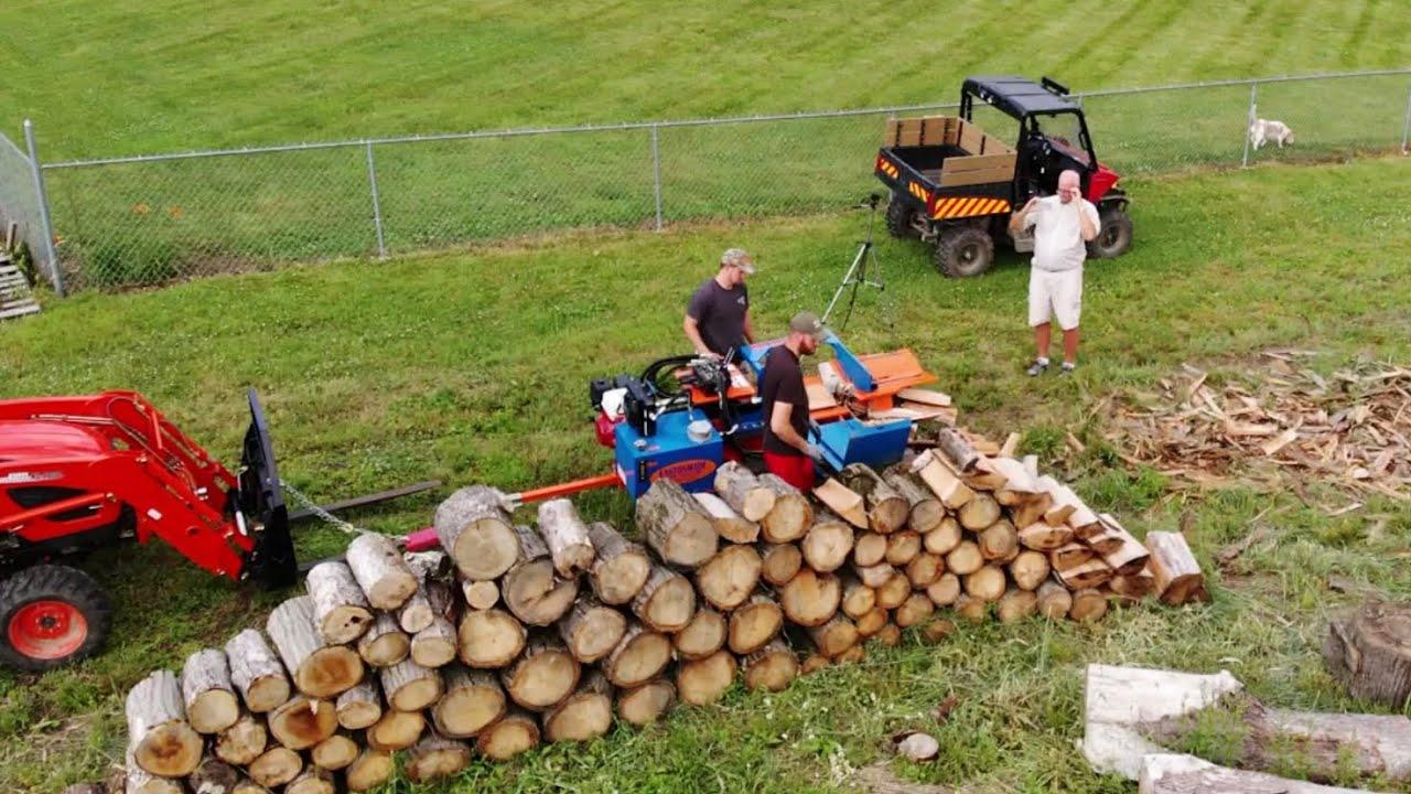 Commercial Log Splitter vs This Pile of Firewood