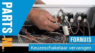 Keuzeschakelaar vervangen van oven of fornuis, PartsNL uitleg
