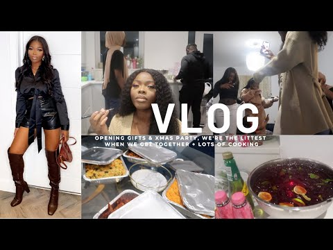 A WEEKLY VLOG | OPENING GIFTS & XMAS PARTY, WE'RE THE LITTEST WHEN WE GET TOGETHER + LOTS OF COOKING