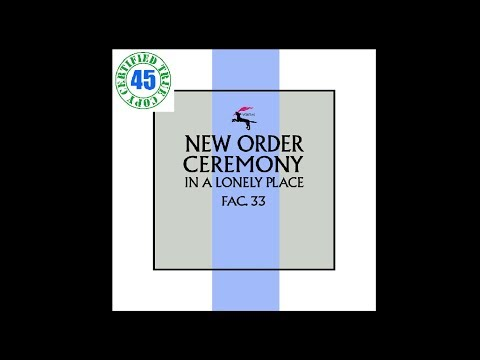 "CEREMONY - NEW ORDER - Ceremony 12"" Single (1981) HiDef"