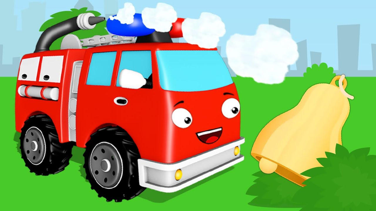 The Red Fire Truck plays HIDE and SEEK | Emergency Vehicles - Cars Cartoon for kids