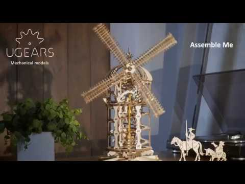 Tower Windmill   Ugears DIY Kits for Teens   Wood Block Puzzles for Kids   STEM Educational Kit