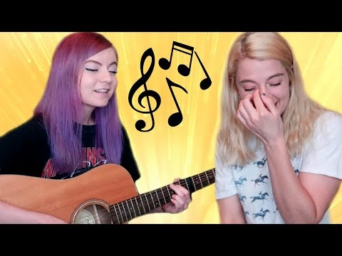 I wrote a song for my sister! she cried