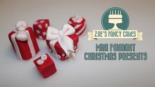christmas cake toppers Fondant christmas presents mini cake toppers How To Decorating Tutorial