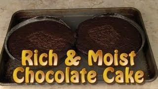 Rich And Moist Chocolate Cake Recipe