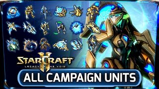 Starcraft 2: Legacy of the Void ► ALL CAMPAIGN Unit Variants Guide - Protoss Factions