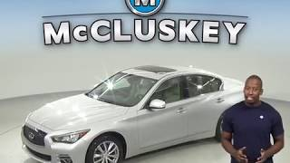 A98043NA Used 2015 INFINITI Q50 Premium AWD Silver Test Drive, Review, For Sale -