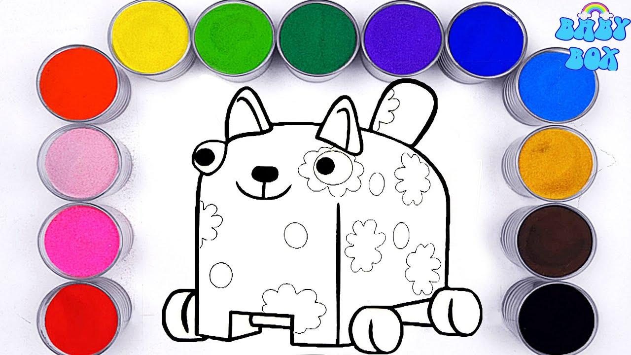 Деревяшки - серии про животных! Раскраска для детей. Учим ...