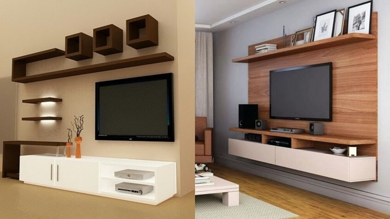Modern Living area LED TV Wall unit design ideas House