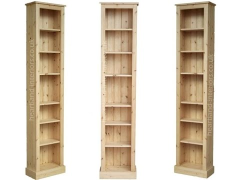 tall narrow bookcase solid wood - Tall Narrow Bookshelves