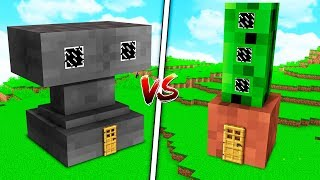 ANVIL HOUSE VS. FLOWER POT HOUSE! - MINECRAFT