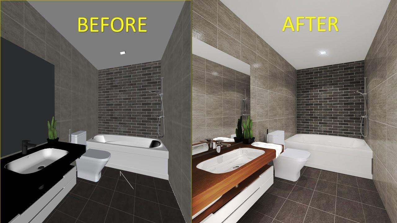 Vray 3ds max interior - vray interior tutorial (Bathroom ...