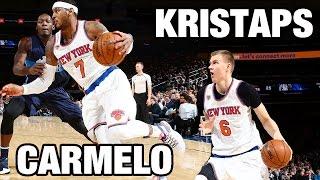 Carmelo & Porzingis Lead Knicks to Home Win