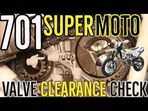 Husqvarna  Supermoto Valve Clearance Check