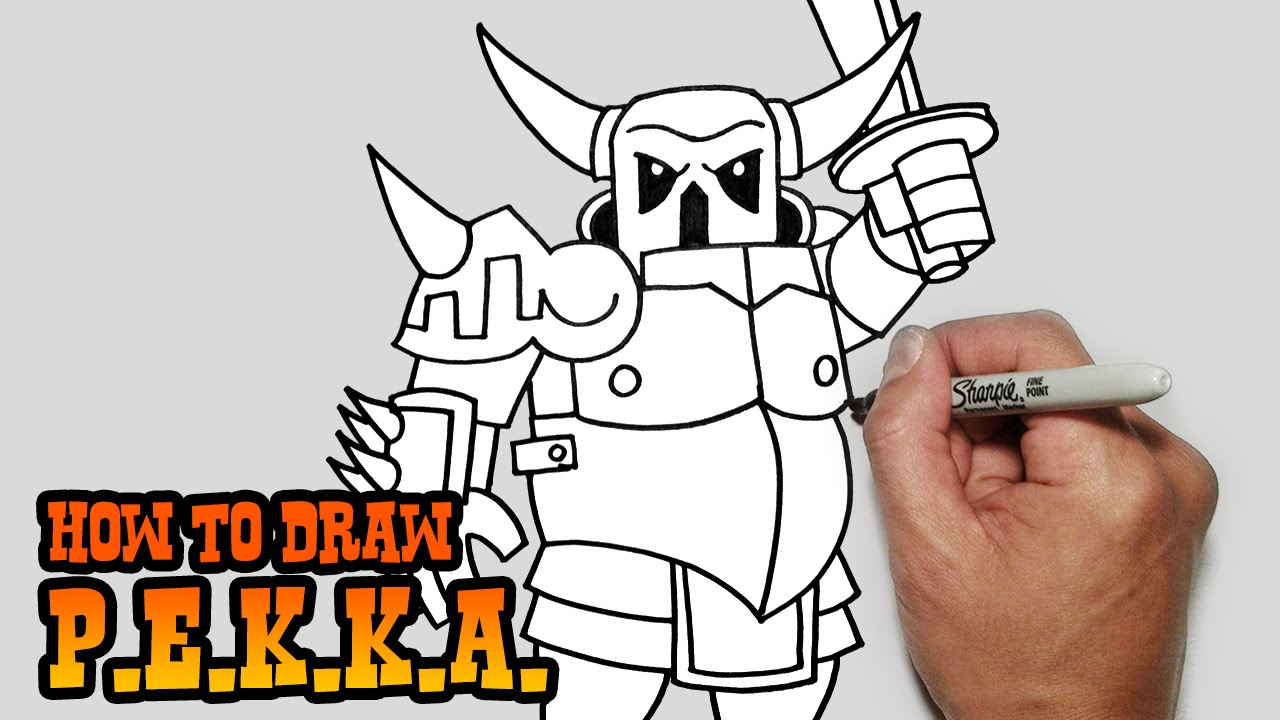 How to draw pekka clash of clans youtube biocorpaavc
