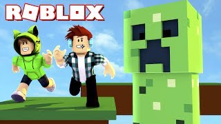Roblox - FUJA DO CREEPER NO ROBLOX !!