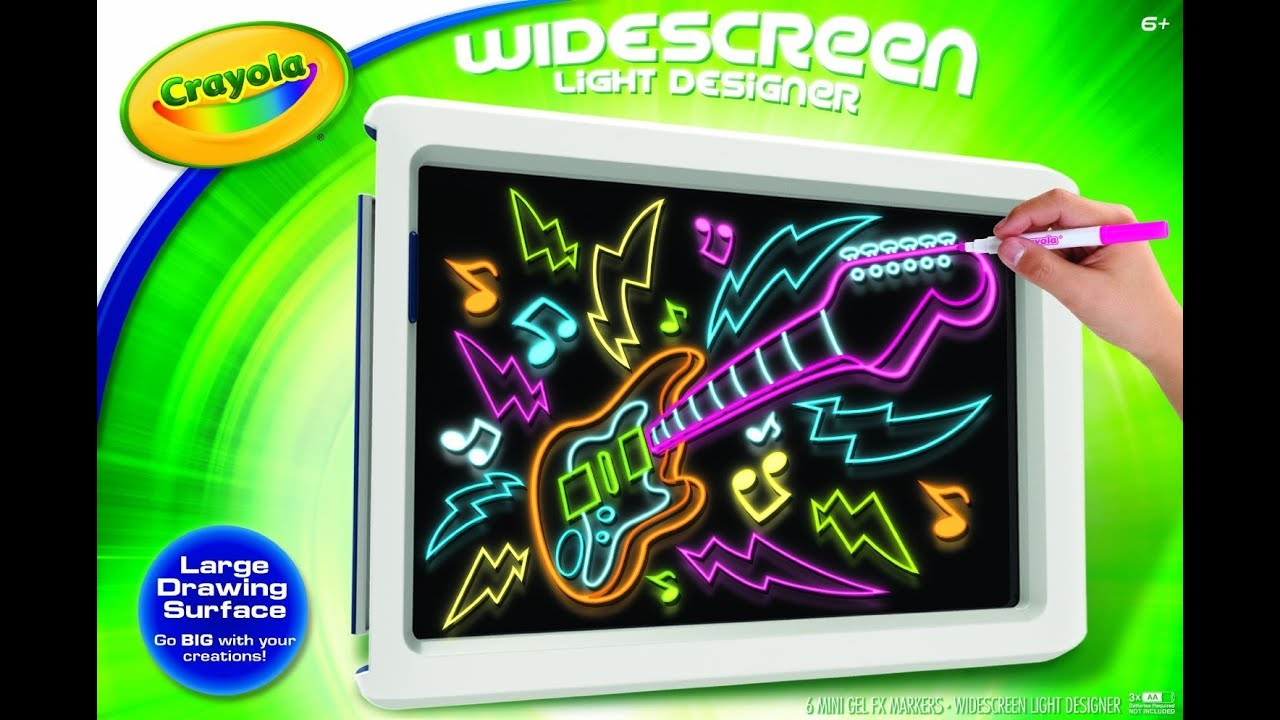 Crayola Widescreen Light Designer Toy Review Youtube