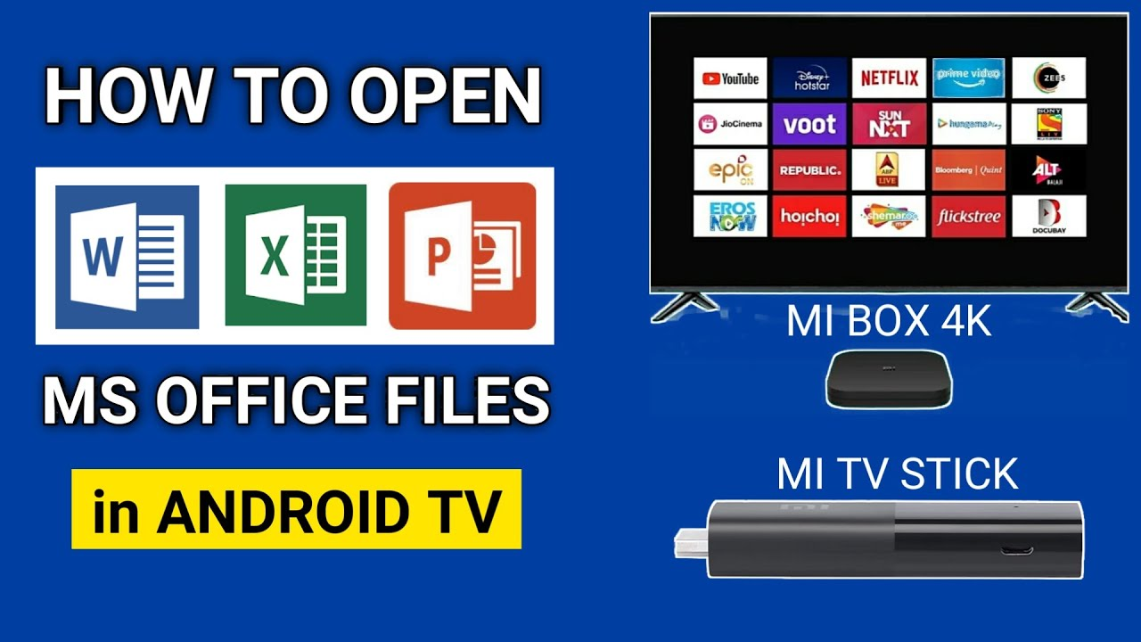 How To Open MS Office Files on Android TV | MS Office for Smart TV